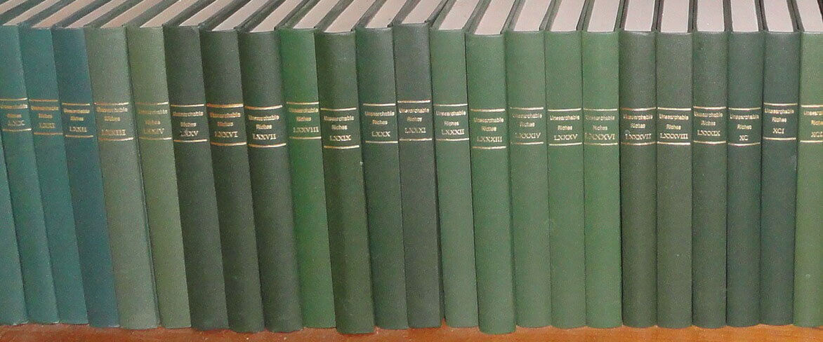 Unsearchable-Riches-Volumes-in-Green-Cloth