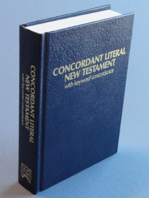 Concordant Literal New Testament with Keyword Concordance - Blue