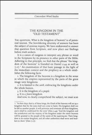 The Kingdom in the Old Testament